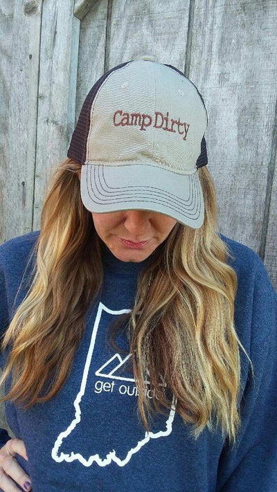 Camp Dirty Unstructured Hat-Khaki/Brown