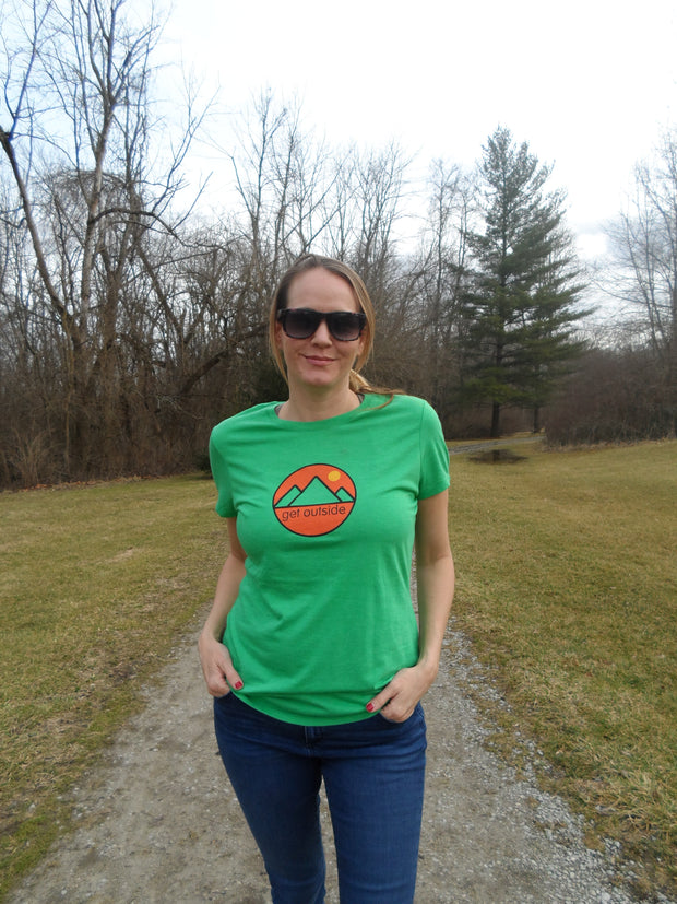 Women's Get Outside Color Logo Tee