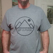 Men's Get Outside Logo Classic Cotton Tee