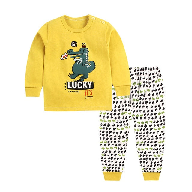 73682a2ea Baby Boys Clothes 2018 Spring Autumn Cartoon Leisure Long Sleeved T-shirts  + Pants Newborn Baby Girl Clothes Suits