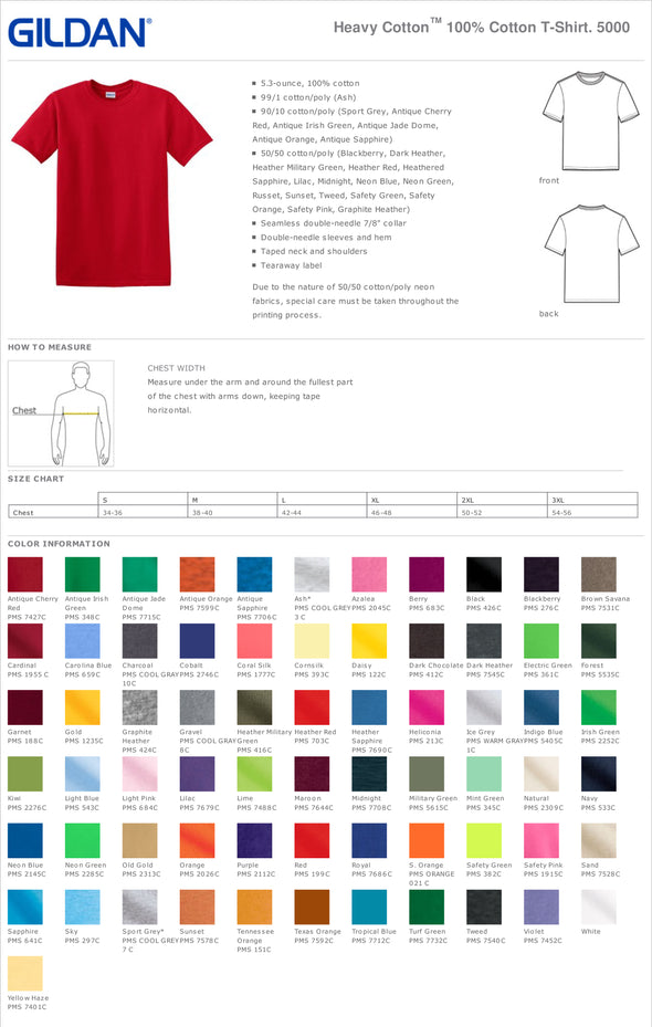 G5000 - Gildan® - Heavy Cotton™ 100% Cotton T-Shirt