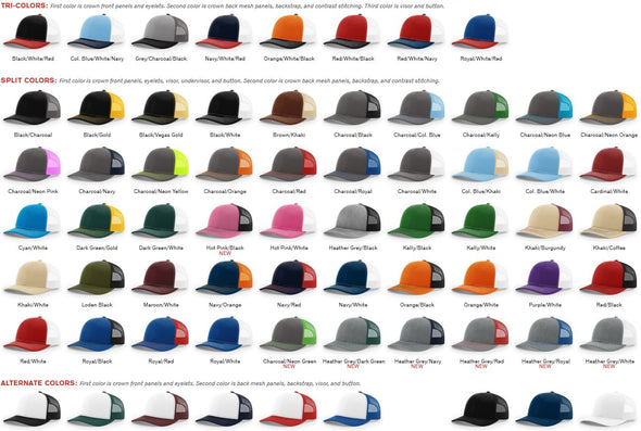 Richardson 112 Trucker Hat Bundle (48)
