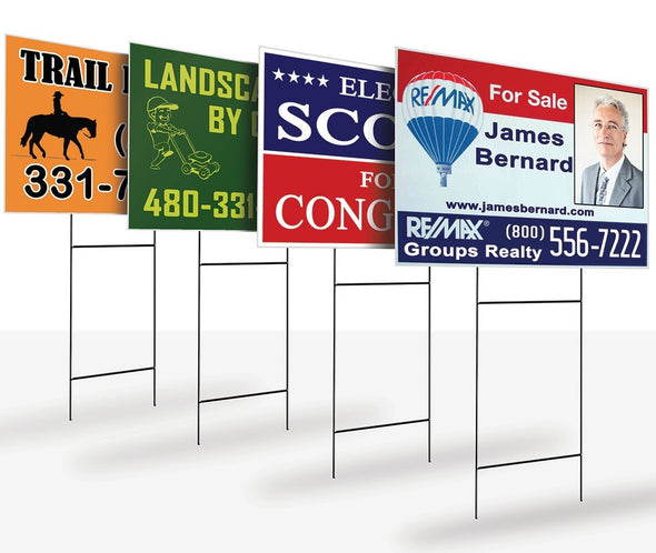 "Yard Signs - 12"" x 18"" Corrugated Plastic Single Sided"