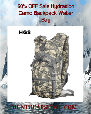 50% Off Sale Hydration Camo Backpack Water Bag