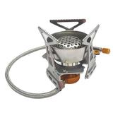 Outdoor Windproof Gas Stove Butane Burn Tool Camping Cooking Big Power Portable Foldable Split Furnace ship from US