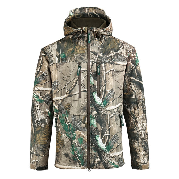 Saenshing Brand Winter Hunting Clothes Men Waterproof Thermal Camouflage Jacket Male Hunting Hiking Wear-Resistant Outdoor Coats