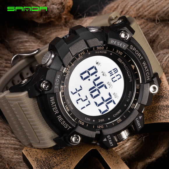 2019 SANDA Digital Watch Men Sport Watch Hunt Gear Store