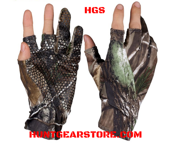 Gloves  Finger Less Camo  Anti Slip Elastic Hunt Gear Store