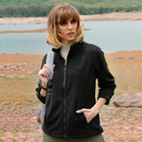 Hiking Jacket Breathable Thermal  Women , Color - Black