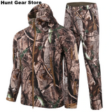 Winter Hunting Sets Waterproof Camouflage Hunting Jackets Pants Sets