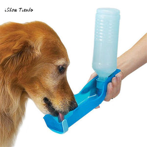 Potable 250ml Foldable Pet Drinking Bottle Dispenser