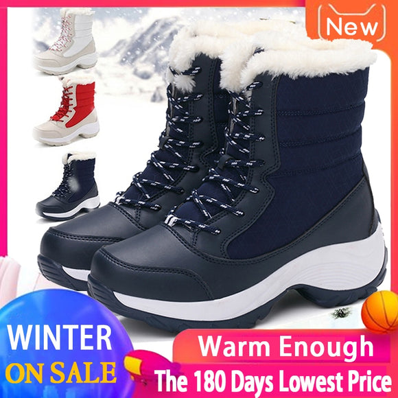 Snow Boots Woman Waterproof Non Slip Thick Fur