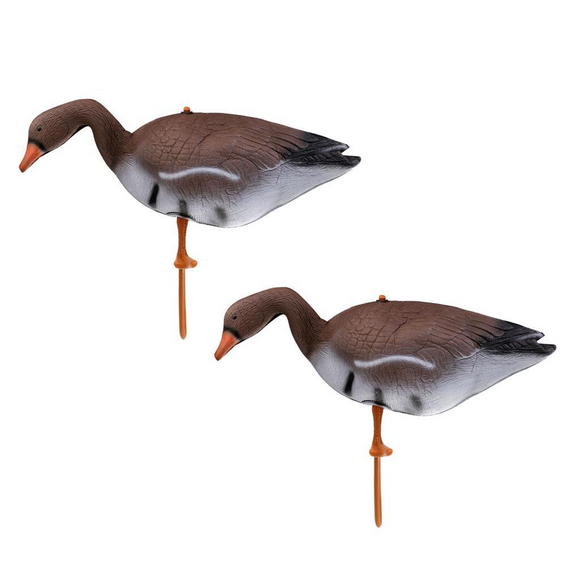 2 Pieces Portable Lifelike Full Body Goose Decoy Hunt Gear Store