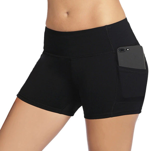 Shorts Women Elastic Waist Running Shorts