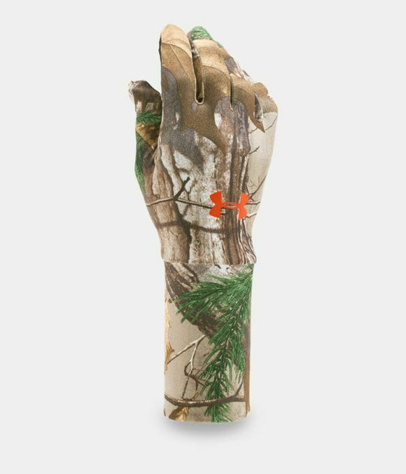 Under Armour UA ColdGear RealTree Xtra Camo Liner Hunting Gloves Men's Size M