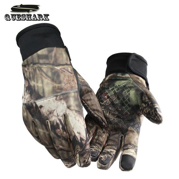 Two Fingers Cut Hunting Gloves Camo Hunt Gear Store