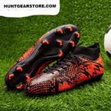 Soccer Cleats High Angle Black White Spray Hunt Gear Store
