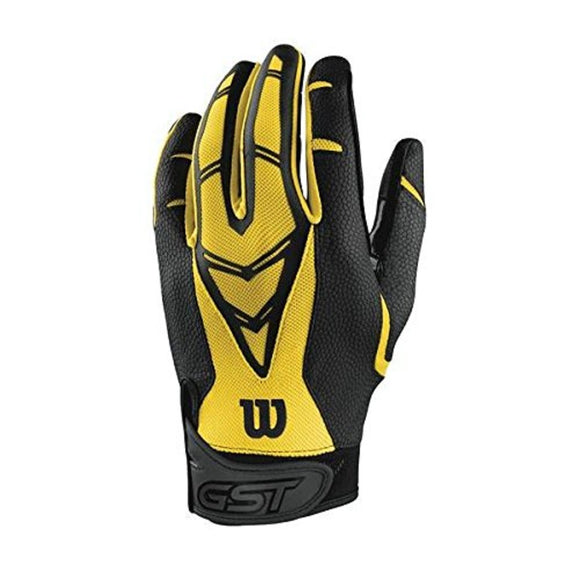 Wilson GST Skill Football Gloves Yellow, Adult XX-Large