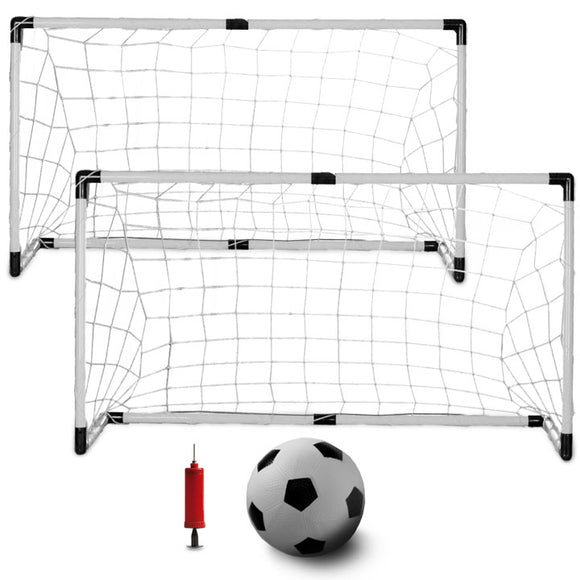 K-Roo Sports Youth Soccer 2 Goals Mini Soccer Ball Pump