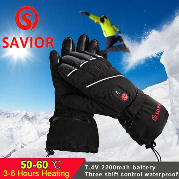 Electric Warm Waterproof Heated Gloves Battery Powered Hunt Gear Store