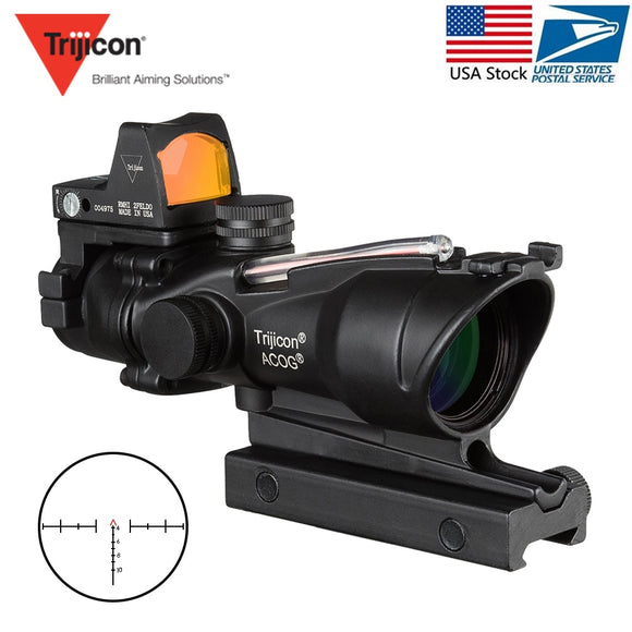Acog 4x32 Rifle Scope Reticle Fiber Illuminated Scope Hunt Gear Store
