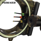 PATHUNTER Bow Sight 3-PIN 0.019''W/Light Fiber Optic LED Light Sight