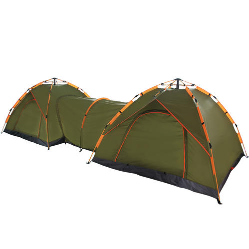 Automatic Instant Pop Up Double Tent With Passageway
