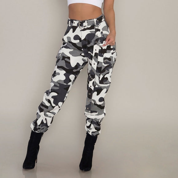 2019 Woman Urban Camo Cargo Pants Hunt Gear Store