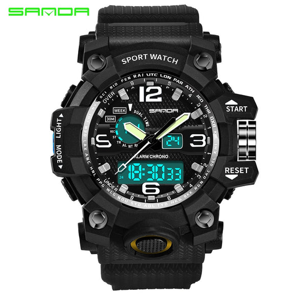 Sports Watches Dual Display Analog Digital LED Hunt Gear Store