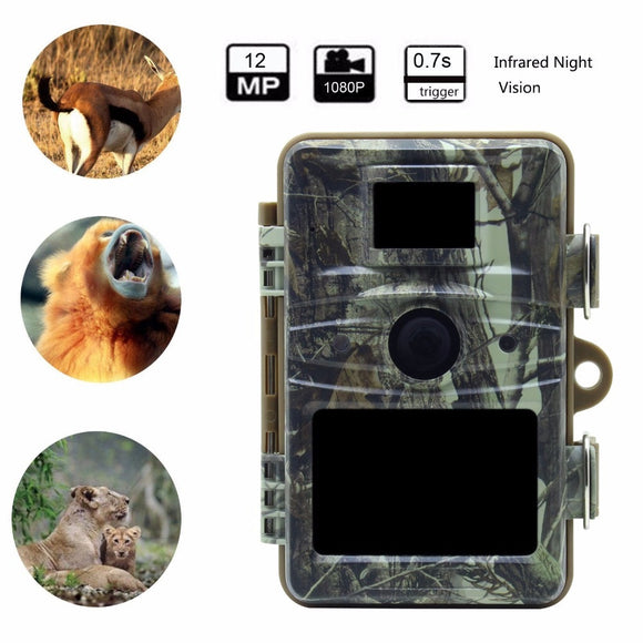 Night Vision Hunting Camera 12MP 1080P 940NM Trail Cameras Hunt Gear Store
