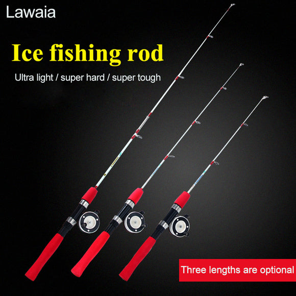 Lawaia Ice Fishing Rod 60cm/80cm/100cm Reel Set Ultra Short Hunt Gear Store
