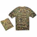 Camouflage T-shirt Men Digital Camo