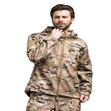 Water-Proof Coat Camo Blue Or Black Models, Color - Army Green