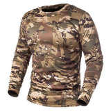 Camouflage 4 Versions T-shirt Men Quick Dry, Color - Khaki Camo Hunt Gear Store