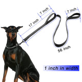 Dog Leash 2 Handles Black Nylon Padded Double Handle Leash - Free + Shipping Hunt Gear Store