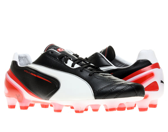 Puma King SL FG Black/White-Ribbon Red Men's Soccer Cleats Sixe 7