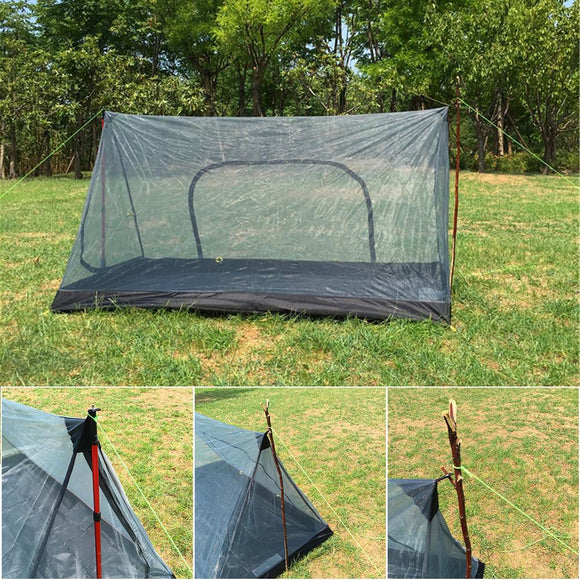 None-pole Portable A-shaped Camping Mosquito Net Tent