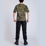 Outdoors Camouflage T-shirt Men Digital Camo