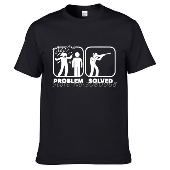 Funny Problem Solved Hunt T-shirt 19 Colors Hunt Gear Store