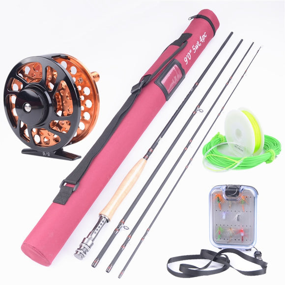 Hi.Whale New Carbon Fly Fishing Combo Set Hunt Gear Store