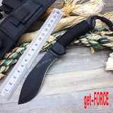 get-FORCE New Blade Tactical Jungle Knife Fixed Blade Knife Hunt Gear Store