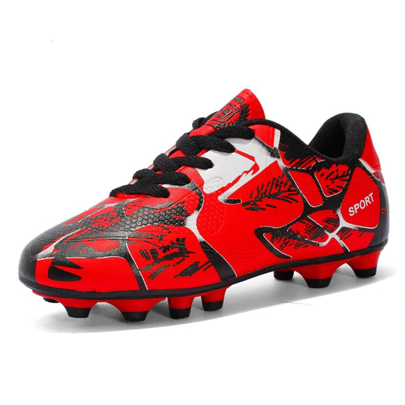 PU Men and Kids Soccer Cleats Spikes Anti-slip Shoes