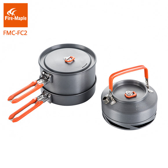Camping Cookware Set Pot Kettle Frying Pan Cooking Pots Hunt Gear Store