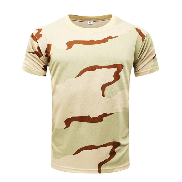 Men Camouflage T-Shirt Short Sleeve 7 Versions Hunt Gear Store