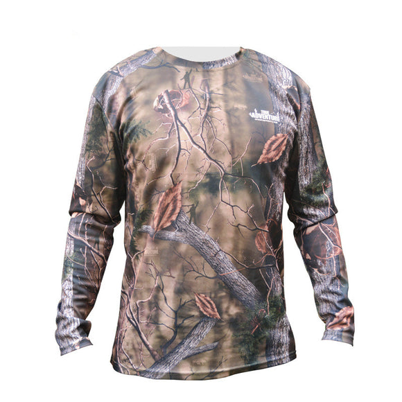 Camouflage 2 Versions T-Shirt Quick Dry Long Sleeve