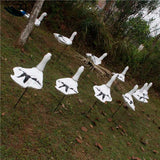 Soft Eva Snow Goose-Decoy Windsock Decoys With Ground Stake
