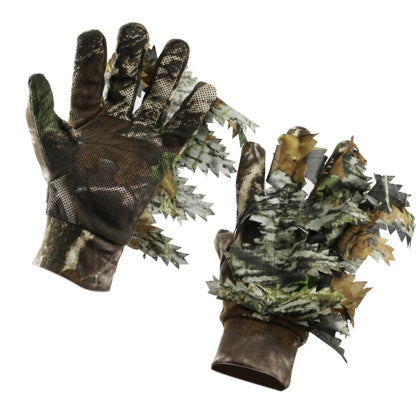 3D Leaf Camouflage Hunting Gloves Full Finger Anti-Slip