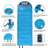 Sleeping Bags With Pillow Winter Type Portable