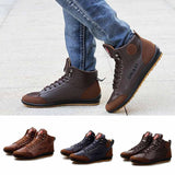 Men's Leather Boots Casual British Style Boots