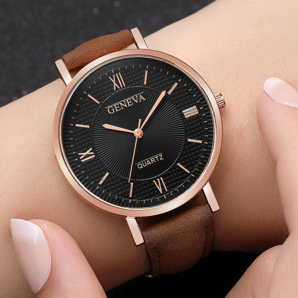 Watch Women Leather Quartz Women's